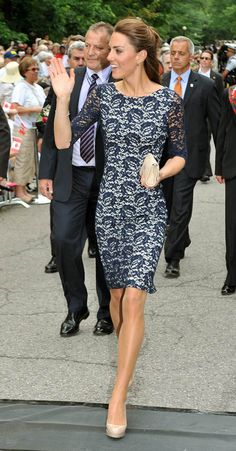 kate middleton. Love this dress..... No nude stockings for me though !