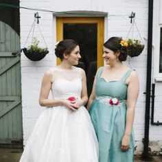 Clare Hill May 2015- wedding dress and bridesmaid dress designed & handmade at The Bridal Emporium