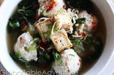 Recipe: Bakso Noodle Soup (Chicken Meatball Soup)