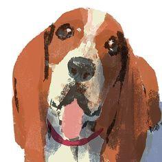 #illustration #painting #tatsurokiuchi #art #drawing #life #lifestyle #happy #japan #people #木内達朗 #イラスト #イラストレーション #dog #bassethound