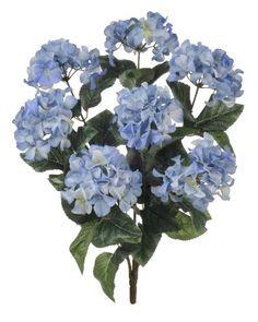 1 artificial silk 22 blue hydrangea bush w 7 mop heads multiple hydrangea silk flowers bush in two tone blue 25 tall all https mightylinksfo