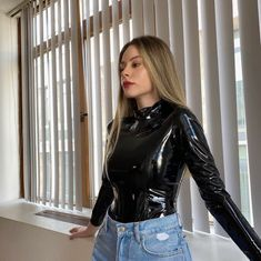 Leather Tops, Leather Jacket, Women's Fashion, Leggings, Rock, Clothes For Women, Jeans, Jackets, Shirts