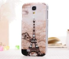 Paris Eiffel Tower Rhinstones Phone Case for Galaxy S4 by tsrose, $13.50