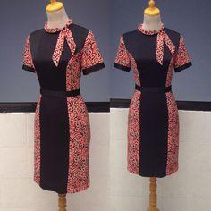 Dress Short African Dresses, African Print Dresses, African Fashion Dresses, Blouse Batik, Batik Dress, Lace Dress, Tunic Designs, Designs For Dresses, Dress Batik Kombinasi