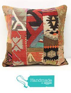 Turkish Patchwork kilim pillow cover 20x20 inch (50x50 cm) Anatolian Kilim pillow cover Patchwork Throw Pillow cover Handmade Kilim Cushion Cover https://www.amazon.com/dp/B01MSWUPGR/ref=hnd_sw_r_pi_dp_bqvsyb1K7RM6G #handmadeatamazon
