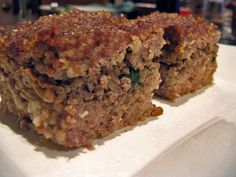 MMM, what could be better than baked kibbe? This recipe is close to my mother-in-law's. She had a 1t01 ratio of meat to wheat, and she added finely chopped green pepper to the top/bottom meat mixture.