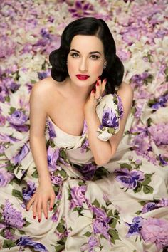 ❀ Flower Maiden Fantasy ❀ beautiful photography of women and flowers - Dita Von Teese                                                                                                                                                     Plus