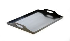 Soho drink tray/blackened stainless steel