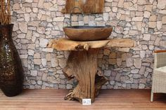 Waschtisch Unterschrank Bad Waschbeckenschrank Holz massiv Teak Badezimmermöbel
