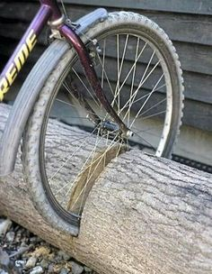 Great idea for a home bike rack!