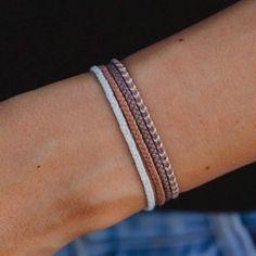 Minimalist Accent Bracelet Set in Sandstone size 8 inches Made in Bali Diy Friendship Bracelets Tutorial, Wrap Bracelet Tutorial, Friendship Bracelets With Beads, Thread Bracelets, Beaded Wrap Bracelets, Friendship Bracelet Patterns, Bracelet Set, Handmade Bracelets, How To Make Anklets