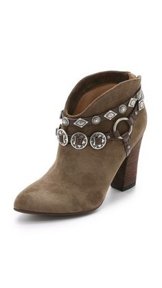 Belle by Sigerson Morrison Fusion Suede Embellished Booties