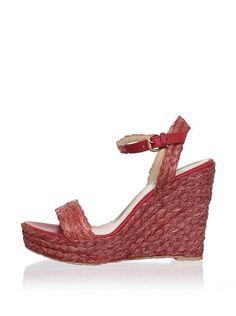 Belle by Sigerson Morrison Lucia2 Sandal. #red #wedges #sandals #hot!