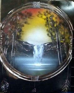 *Sunset Dream Catcher- Spray Painting by Beautiful Rendition: Customized Spray Paint Creations