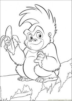monkey printables pages monkey eats banana cartoons the jungle book free printable