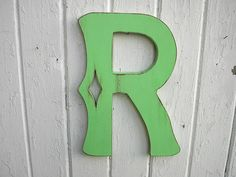 Wooden Letter R Shabby Chic Distressed, $32.00 by CTheWritingOnTheWall