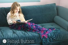 Mermaid tail blanket $5.50 pattern