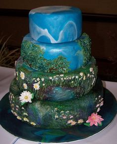 Cake Art: Monet's Lily Pads - I will have this on my next birthday!