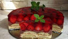 Budyniowiec bez pieczenia Polish Recipes, Polish Food, Watermelon, Waffles, Cheesecake, Fruit, Breakfast, Cakes, Morning Coffee