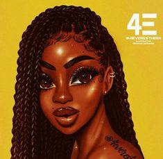Pop Art Girl, Black Girl Art, Black Art, Black And White, Girl Wallpapers For Phone, Cool Nike Wallpapers, Black Girl Cartoon, Baby Pink Aesthetic, Queen Art
