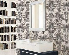 STENCIL for Walls - Art DECO Flower Pattern - Large, Reusable stencil - DIY Home Decor