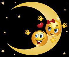 smiley face in cosmos face Smiley Emoji, Love Smiley, Emoji Love, Night Love, Good Night, Bisous Gif, Naughty Emoji, Emoticon Faces, Emoji Symbols