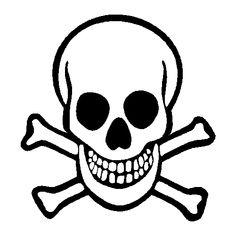 Skull & Crossbones 2, Skull and Crossbones decals, skull stickers ...