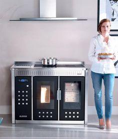 Klover Smart 120 pellet boiler and cooker