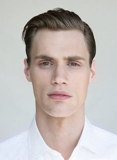 Slicked-back. http://votetrends.com/polls/381/share #hair #style #haircut #beauty