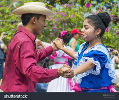 PANCHIMALCO , EL SALVADOR - MAY 08 : Salvadorian dancers perform during the Flower & Palm Festival in Panchimalco, El Salvador on May 08 2016