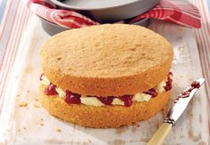 The best things in life are sweet! Bake this tasty Victoria sponge cake with the kids. The perfect school holiday activity #Recipe #LetsBake
