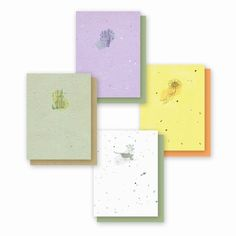 NEW Garden Variety 4 Pack  Plantable Greeting Cards