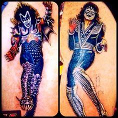 Standing up kiss Kiss Tattoos, Love Tattoos, Beautiful Tattoos, Kiss World, Kiss Art, Kiss Photo, Hot Band, Heavy Metal, Tatting