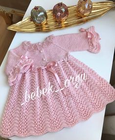 Cute Is Cute 36 Baby Clothes Knitting Models – Baby Ideas Crochet Baby Poncho, Crochet Baby Dress Pattern, Knit Baby Dress, Baby Dress Patterns, Baby Girl Crochet, Baby Hats Knitting, Knitted Poncho, Baby Knitting Patterns, Baby Cardigan