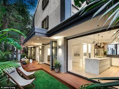 Top marks: The tropical outdoor space is likely to attract buyer's attention with its luxu...