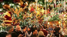 Rolf's Restaurant and Bar : New York, NY. German food, Christmas theme.
