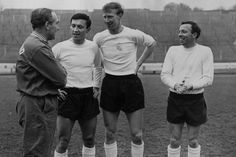 1965: England call-up - Meeting Sir Alf Ramsey with fellow England new-boys Barry Bridges and Jack Charlton