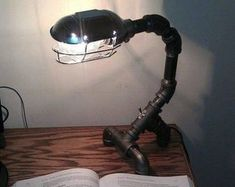 20 Extravagant DIY Lamp Designs With Industrial Charm #industriallamps