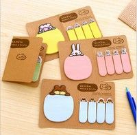 Business, Office & Industrial Supplies Sweet pink Funny rabbit Sticker Bookmark Sticky Notes Marker Memo Post Tab Flag Office Equipment & Supplies