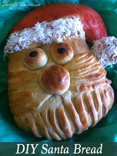 This do it yourself Santa Bread tutorial has step-by-step instructions. It's super easy to make and you're sure to have a blast creating it!