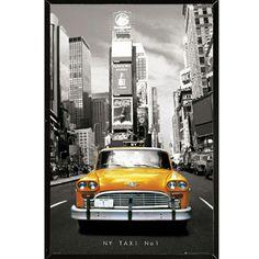 USA New York Taxi Wall Plaque