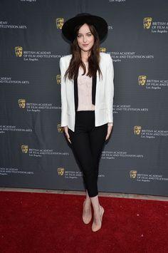 Dakota attends the 26th Annual BAFTA LA Garden Party on June 2, 2013 in L.A. via StyleList | http://aol.it/1tFKsio