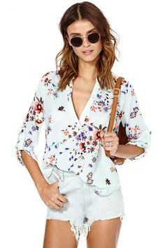 Fun #floral top for #spring