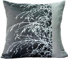 "Artiwa Modern Decorative Silk / Velvet Pillow Cover Black & Gray with Natural Branches 18""x18"" by Artiwa, http://www.amazon.com/dp/B007ZX9B8M/ref=cm_sw_r_pi_dp_PQyFrb1H1JNC7"