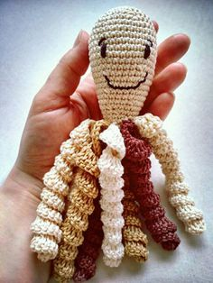 Chobotnička pro předčasňátka z rodiny kafíčkomilů / Crochet Octo for Preemies of Coffee lovers
