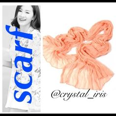 Peach scarf NWT. More scarves listed in my @reggies_closet. Bundles up to 60% off! Accessories Scarves & Wraps