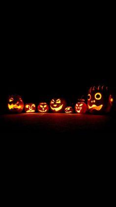 Glowing Pumpkins Halloween iPhone 6 & iPhone 6 Plus Wallpaper