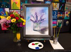 Browse our upcoming painting classes and events at Des Moines Pinot's Palette! Reserve your seat for the best paint and sip experience today! Paint And Sip, Event Calendar, Cool Paintings, Paint Party, Lilac, Palette, Glass, Drinkware, Lilac Bushes