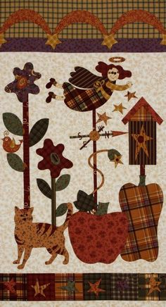 The Buggy Barn Pumpkin Pie Panel Fall Quilting by BlackBirdFabrics