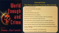 The Peace of Mind Thief by Alex Carrick Crime Fiction, Peace Of Mind, Movie Tv, How To Become, Mindfulness, Author, Books, Angels, Libros